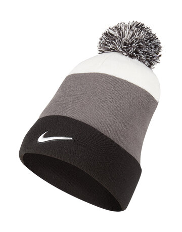 Kids Swoosh Stripe Bobble Hat