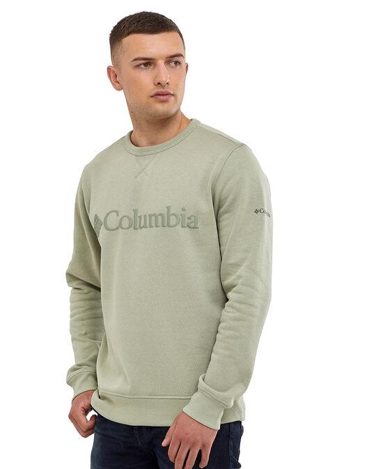 Mens Embossed Logo Crew Neck Sweatshirt