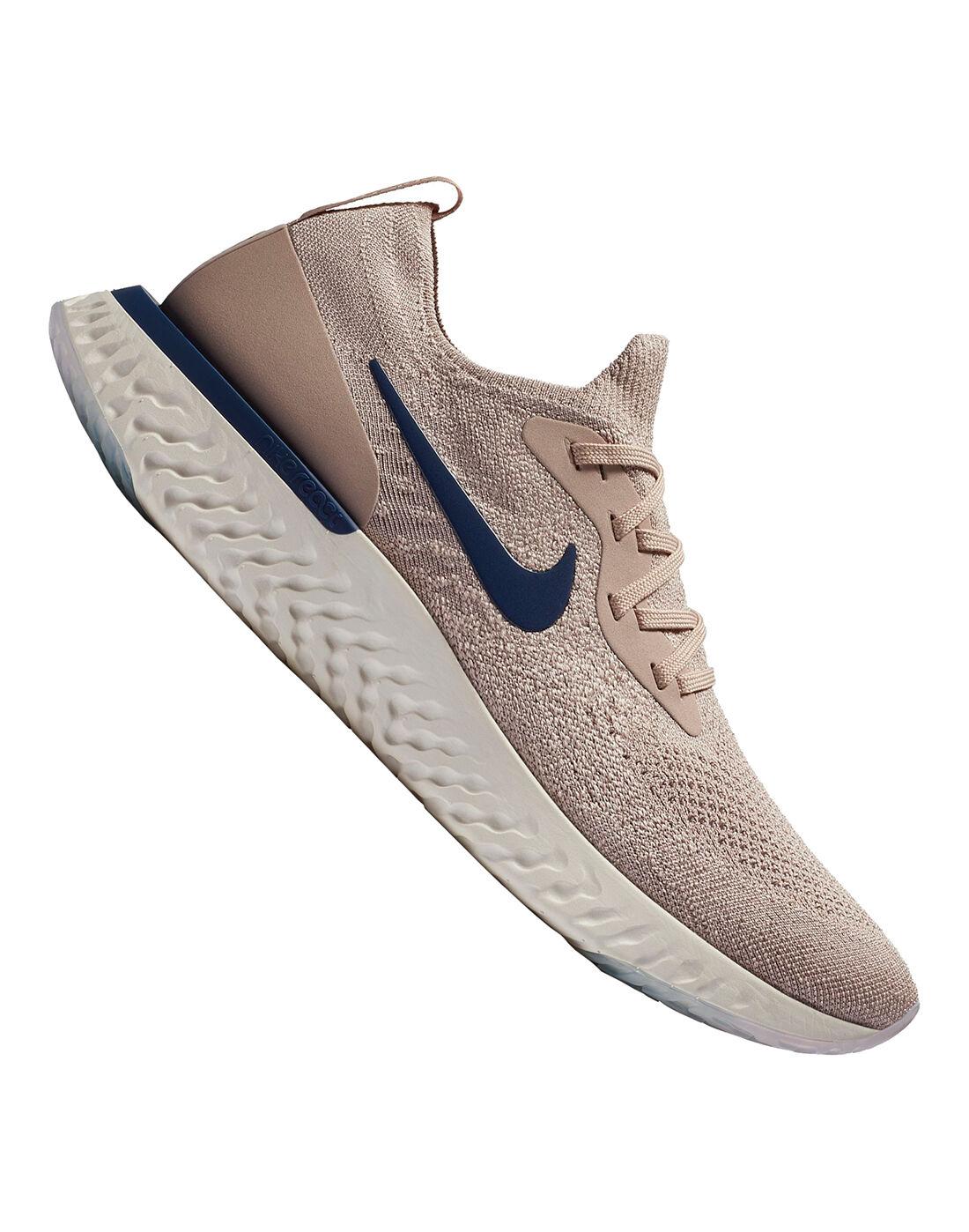 Men's Nike React Flyknit   Beige   Life