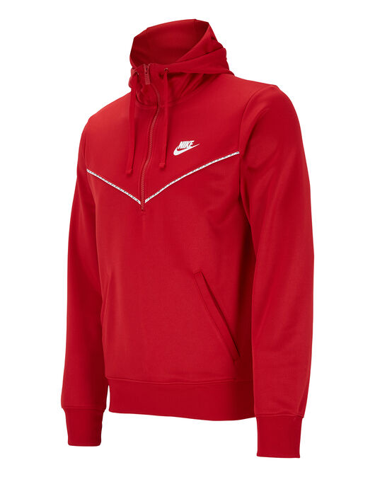 Mens Repeat Poly Half Zip Hoodie