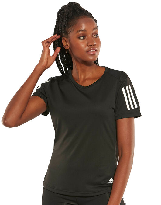 Drama Pies suaves Despedida  Women's Black adidas Running T-Shirt   Life Style Sports