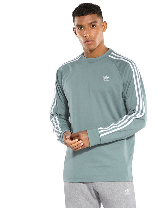 2f26053e15bb Men s Green Long Sleeve adidas Originals T-Shirt