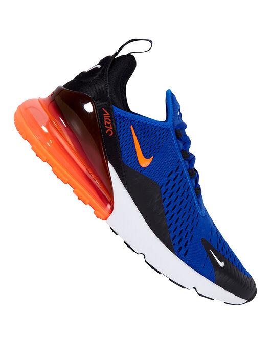 Men S Blue Orange Nike Air Max 270 Life Style Sports