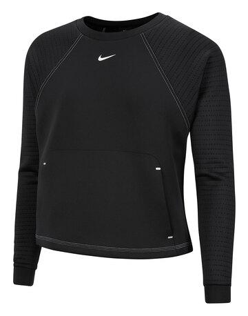 Womens Lux Dry Fleece Crew Sweatshirt