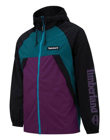 Mens Hooded Windbreaker Jacket