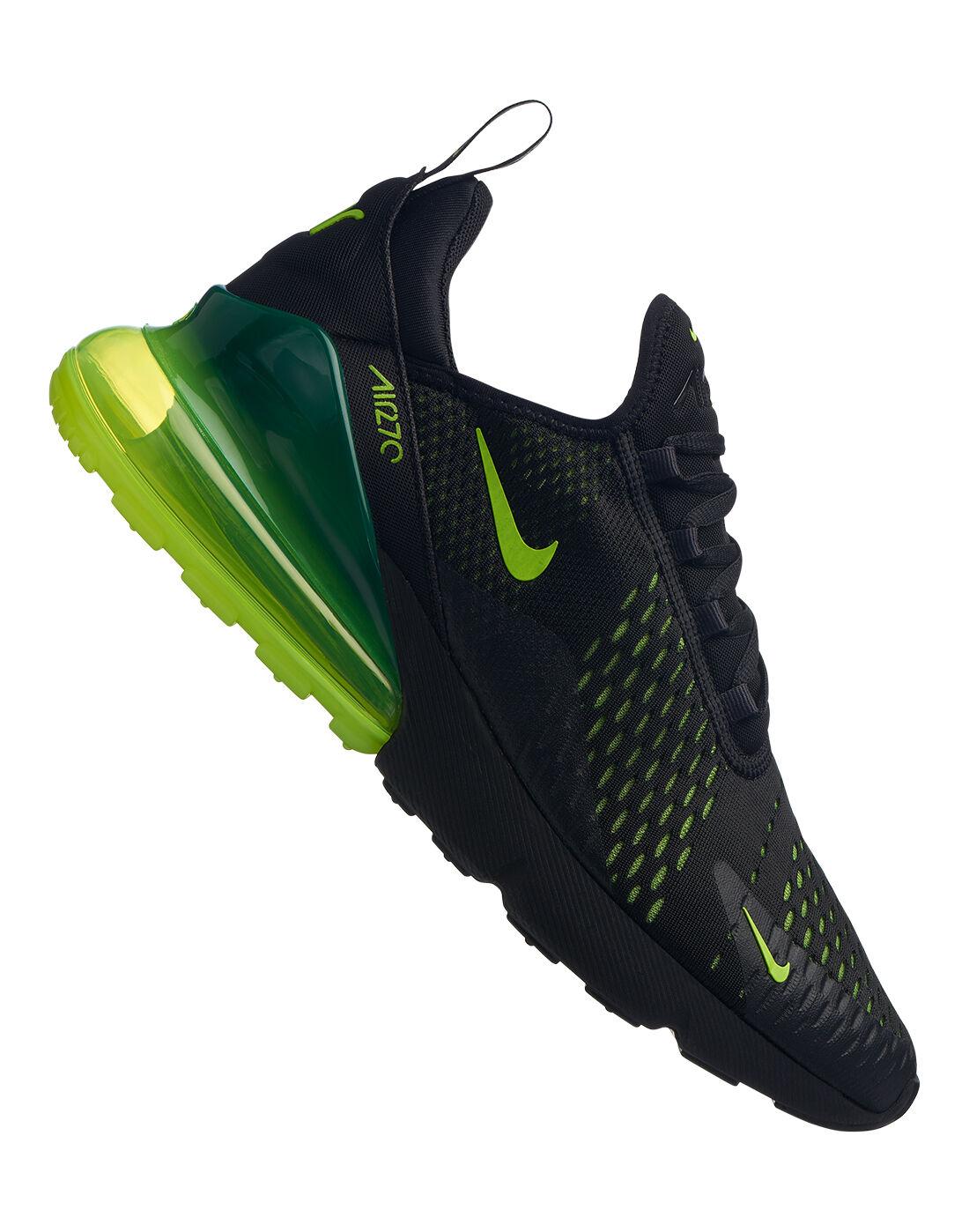 Men's Black & Neon Green Nike Air Max 270 | Life Style Sports