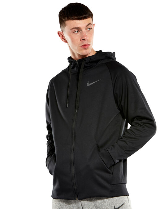 7d786e57f Men's Black Nike Therma Full Zip Hoodie | Life Style Sports