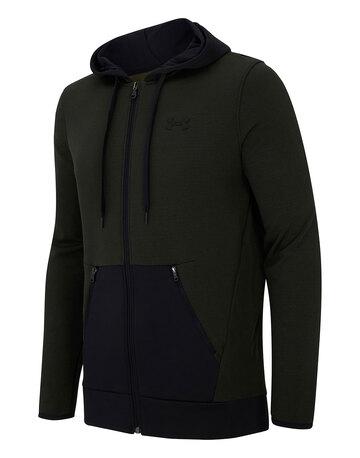 Mens Armour Fleece Textured Full Zip Hoodie