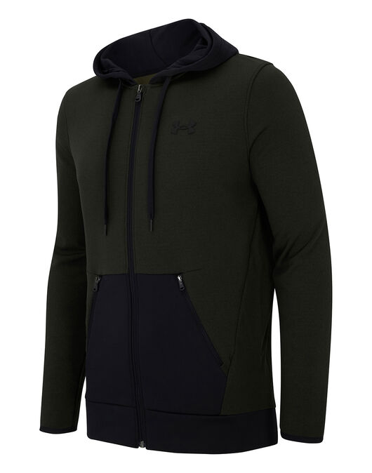 Mens Armour Fleece Textured Full Zip Hoodie