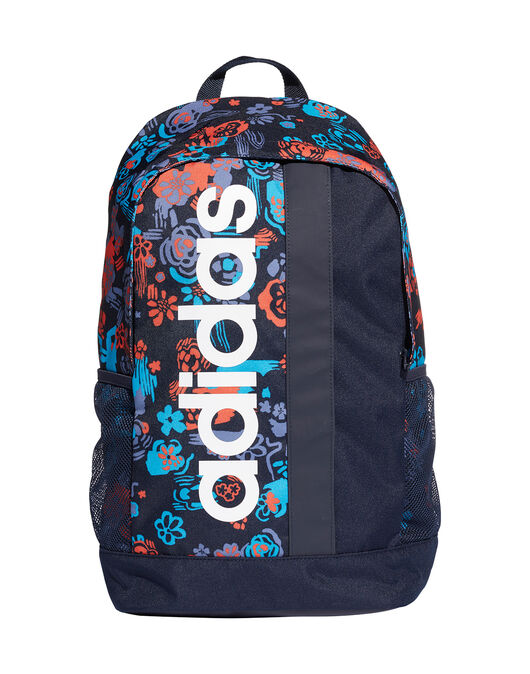 Linear Floral Print Backpack