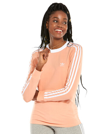 Womens 3 Stripe Long Sleeve T-Shirt