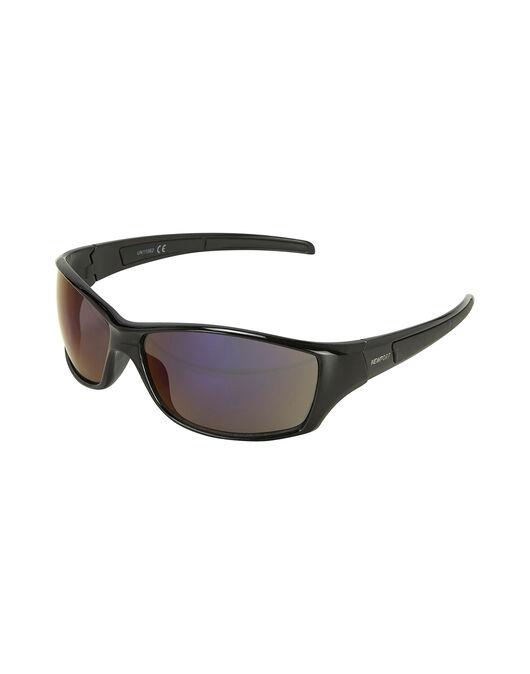 Shiney Black Wrap Sunglasses