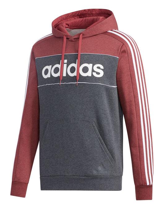Mens 3-Stripes Linear Hoodie