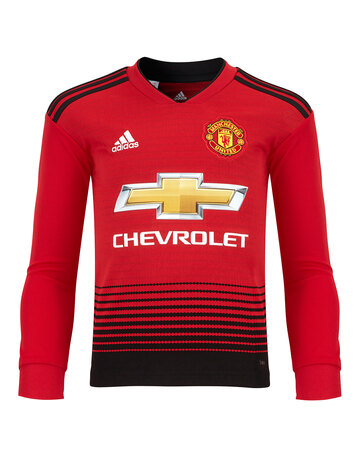 Kids Man Utd 18/19 Home Jersey LS