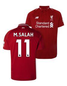 Kids Liverpool Salah Home Jersey