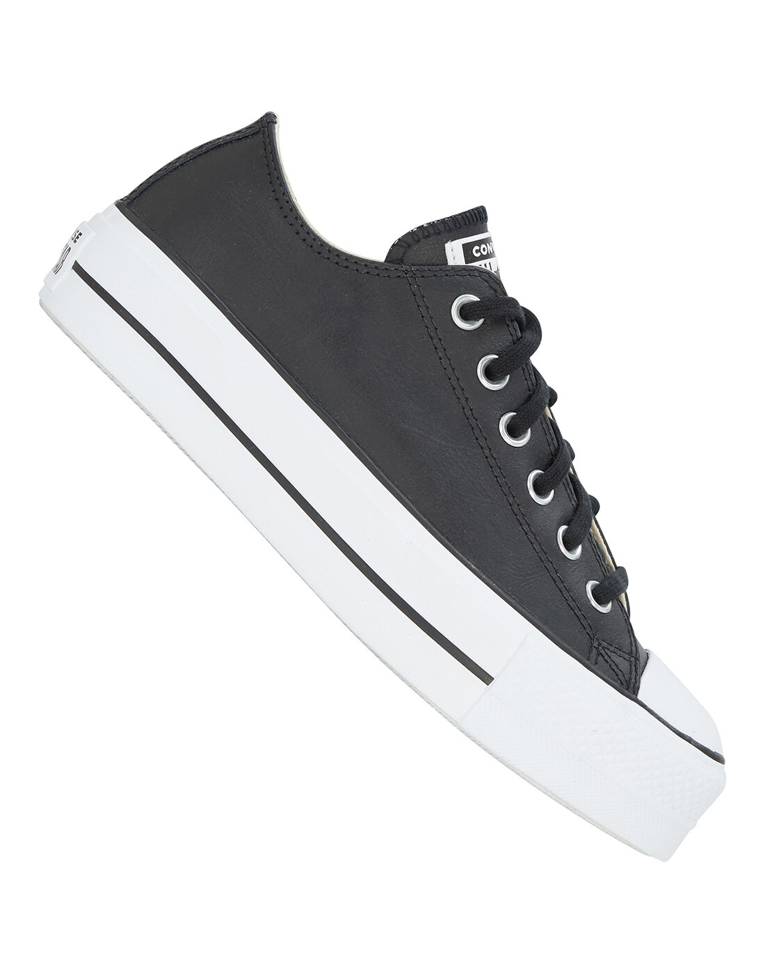Converse Womens Chuck Taylor All Star Lift Leather Ox - Black ...
