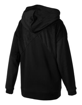 Womens Fabric Block Hoody