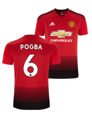 KIDS Pogba  Man Utd HOME 18/19 JERSEY