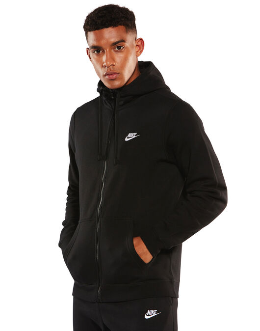 a471e65be Men's Nike Full Zip Club Hoody   Black   Life Style Sports