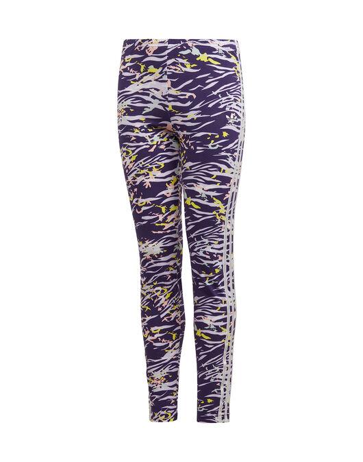 Older Girls 3-Stripes Printed Leggings