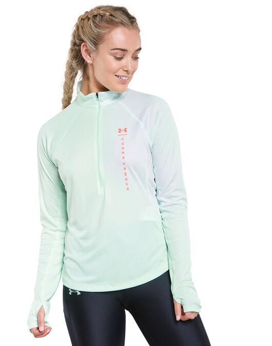 Womens Speed Stride Attitude Half Zip Long Sleeves Top