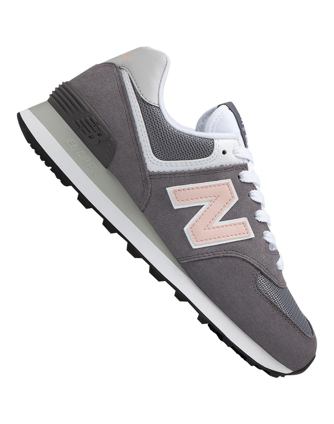New Balance 574 Trainers In Grey And Pink