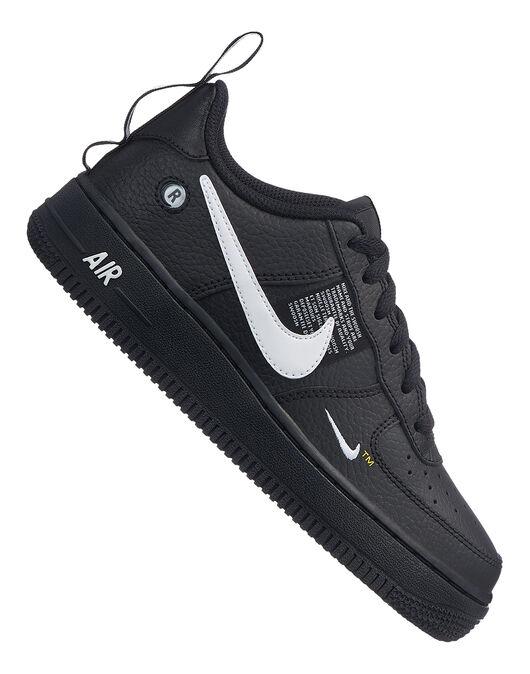 on sale 5b85c 4b835 Boy's Black Nike Air Force 1 Utility | Life Style Sports