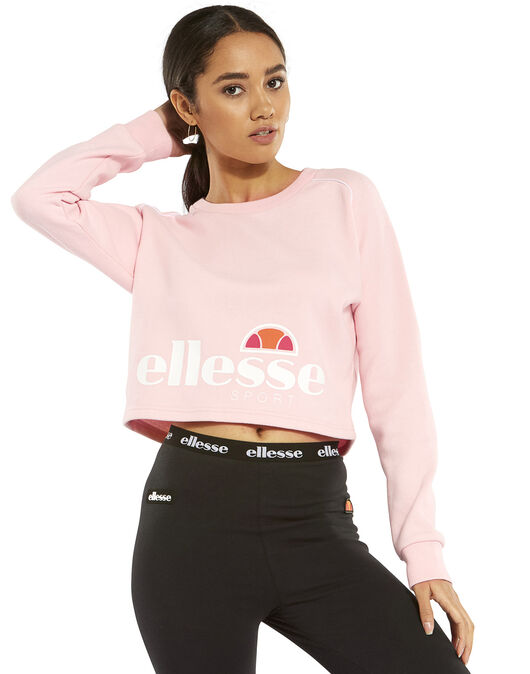e19d23351a Women's Pink Ellesse Crop Top | Life Style Sports