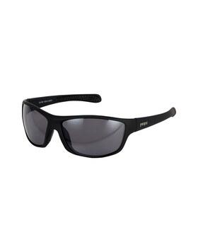 Matt Black Wrap Sunglasses