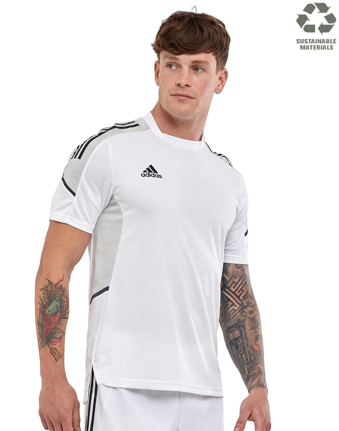 adidas Mens Condivo 21 Training T-Shirt - White | Life Style ...