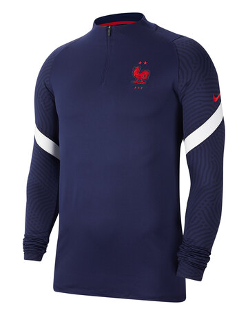 Adult France Euro 2020 Training Quarter Zip Top