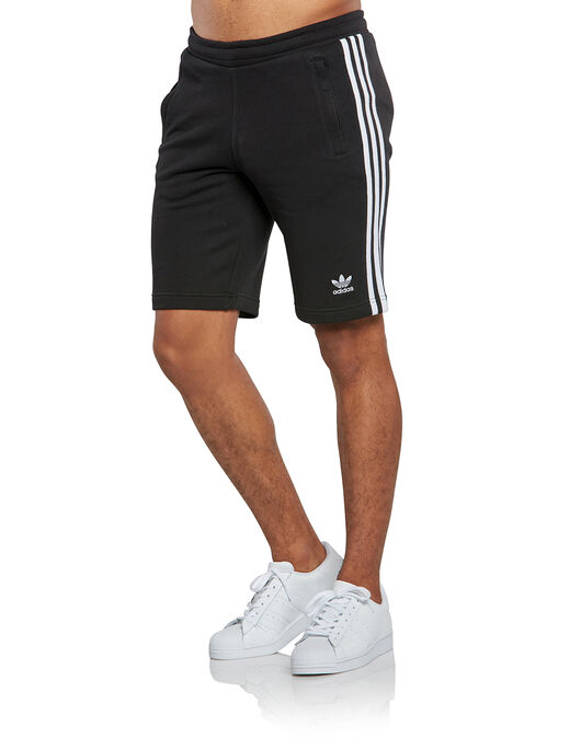 Mens 3-Stripes Fleece Shorts