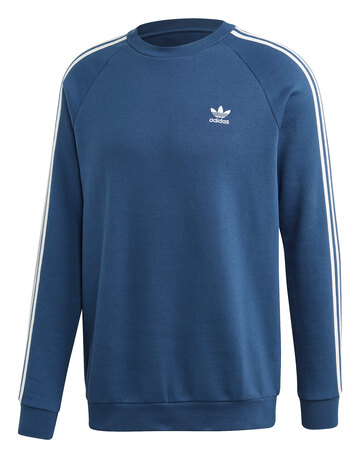 Mens 3-Stripes Crew Neck Sweatshirt