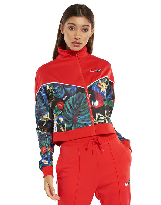 1f879662f963 Women s Red Floral Nike Jacket