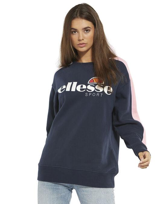 207c89c274 Women's Navy & Pink Ellesse Sweatshirt | Life Style Sports