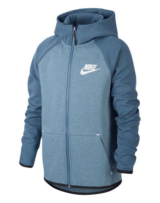 a8b58211d Boy's Blue Nike Tech Fleece Hoodie | Life Style Sports