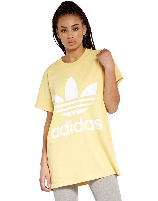 2ef72bb80 Women's Yellow adidas Originals Big Trefoil T-Shirt | Life Style Sports