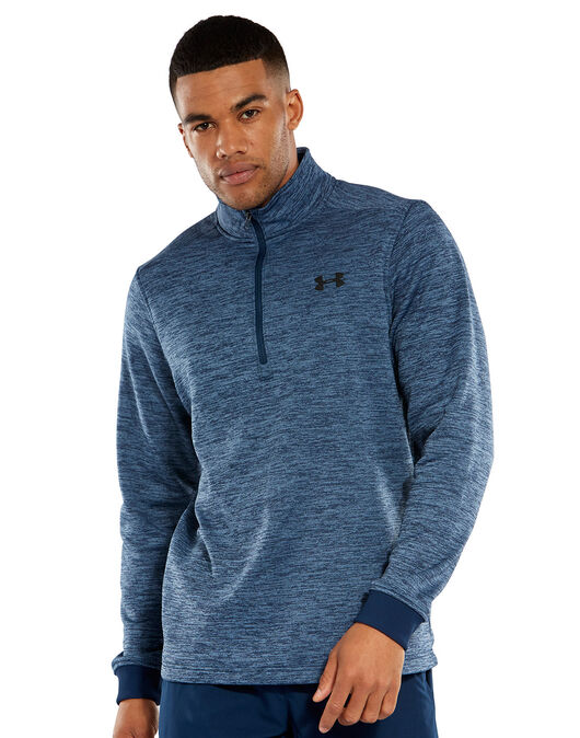 Mens Armour Fleece Half Zip Top