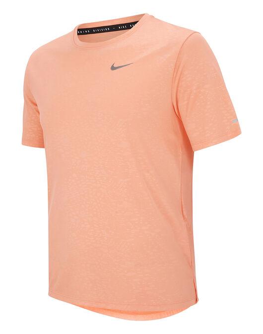 Mens Run Division Miler Emboss T-Shirt