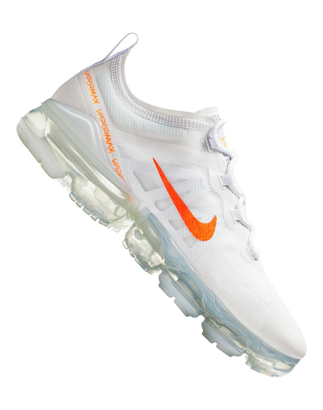 Men's White \u0026 Orange Nike Vapormax 2019