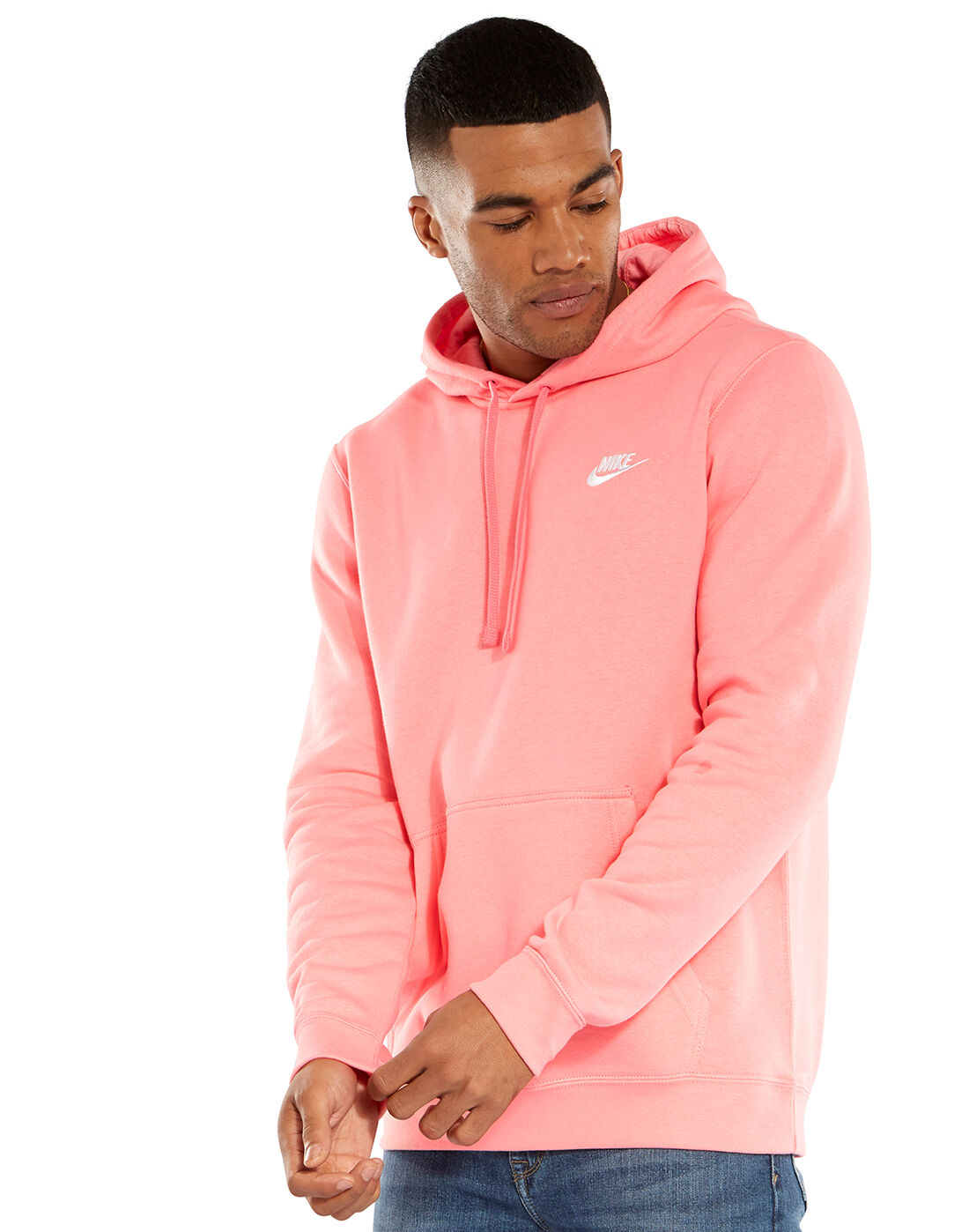 Men's Pink Nike Pullover Hoodie | Life Style Sports
