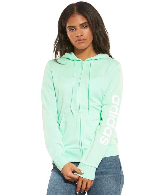 Women s Turquoise adidas Full Zip Hoodie  b2667036f6