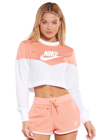 Womens Mesh Cropped T-Shirt