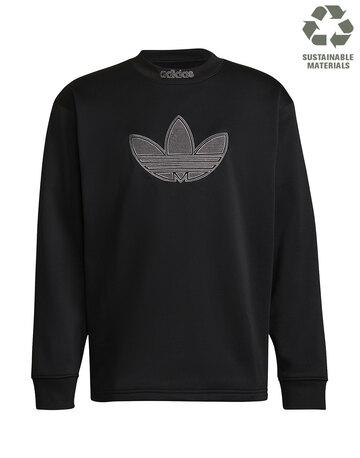 Mens Linear Logo Crew Neck Sweatshirt