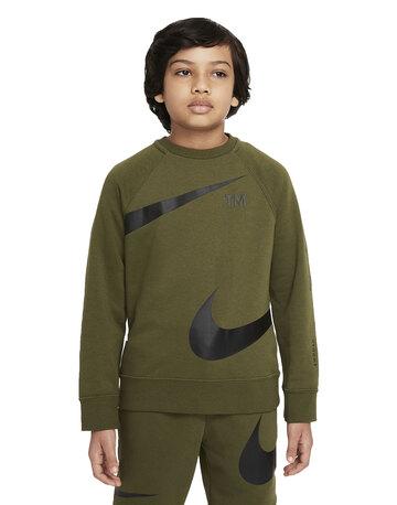 Older Boys  Fleece Swoosh Crewneck Sweatshirt