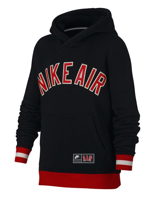 Boy s Black   Red Retro Nike Air Fleece Hoodie  e3bcb49bcc