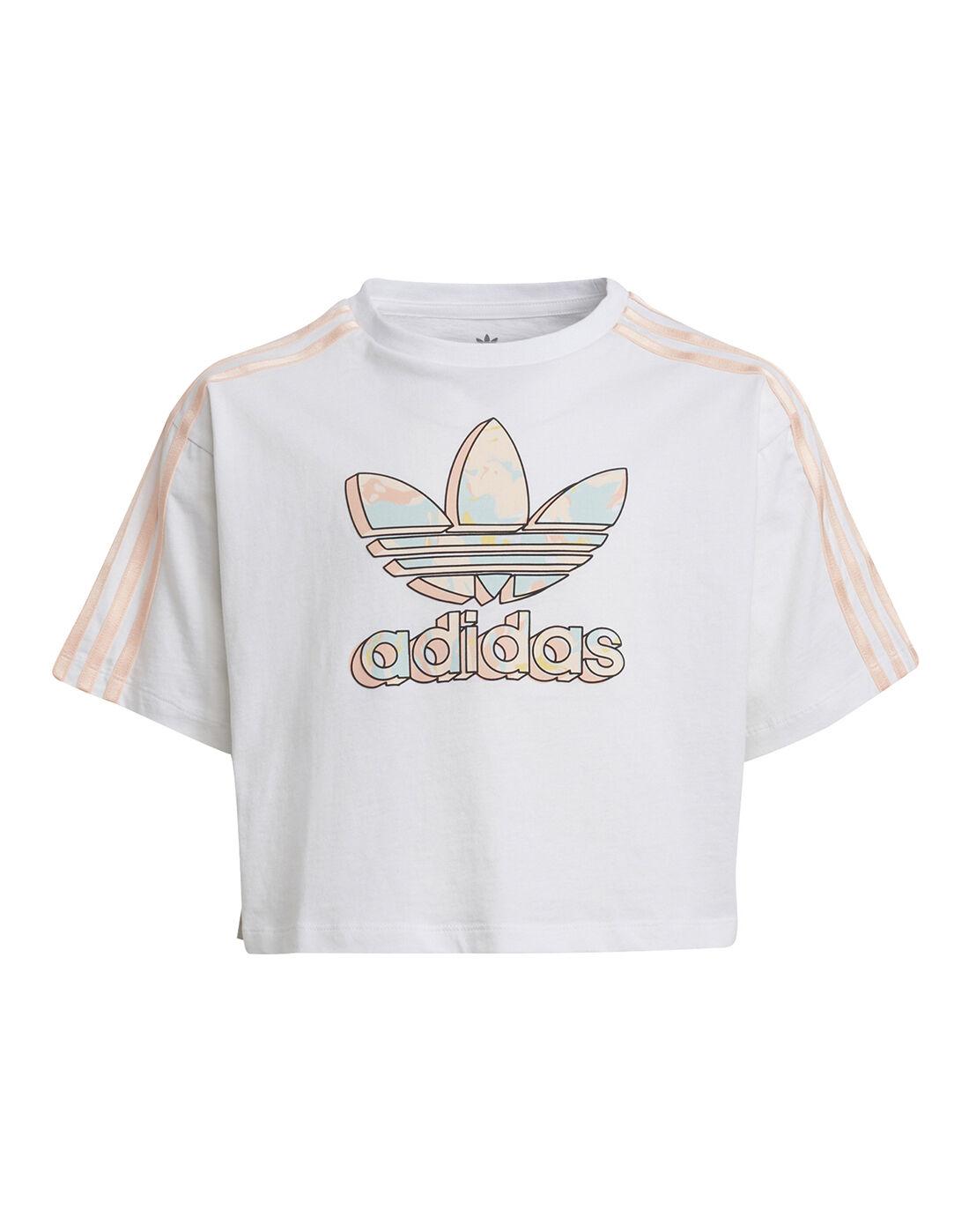 adidas Originals Older Girls Cropped T-Shirt - White   adidas ...
