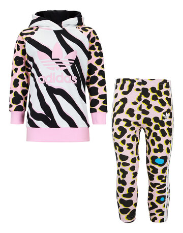 Infant Girls Pullover Leopard Tracksuit