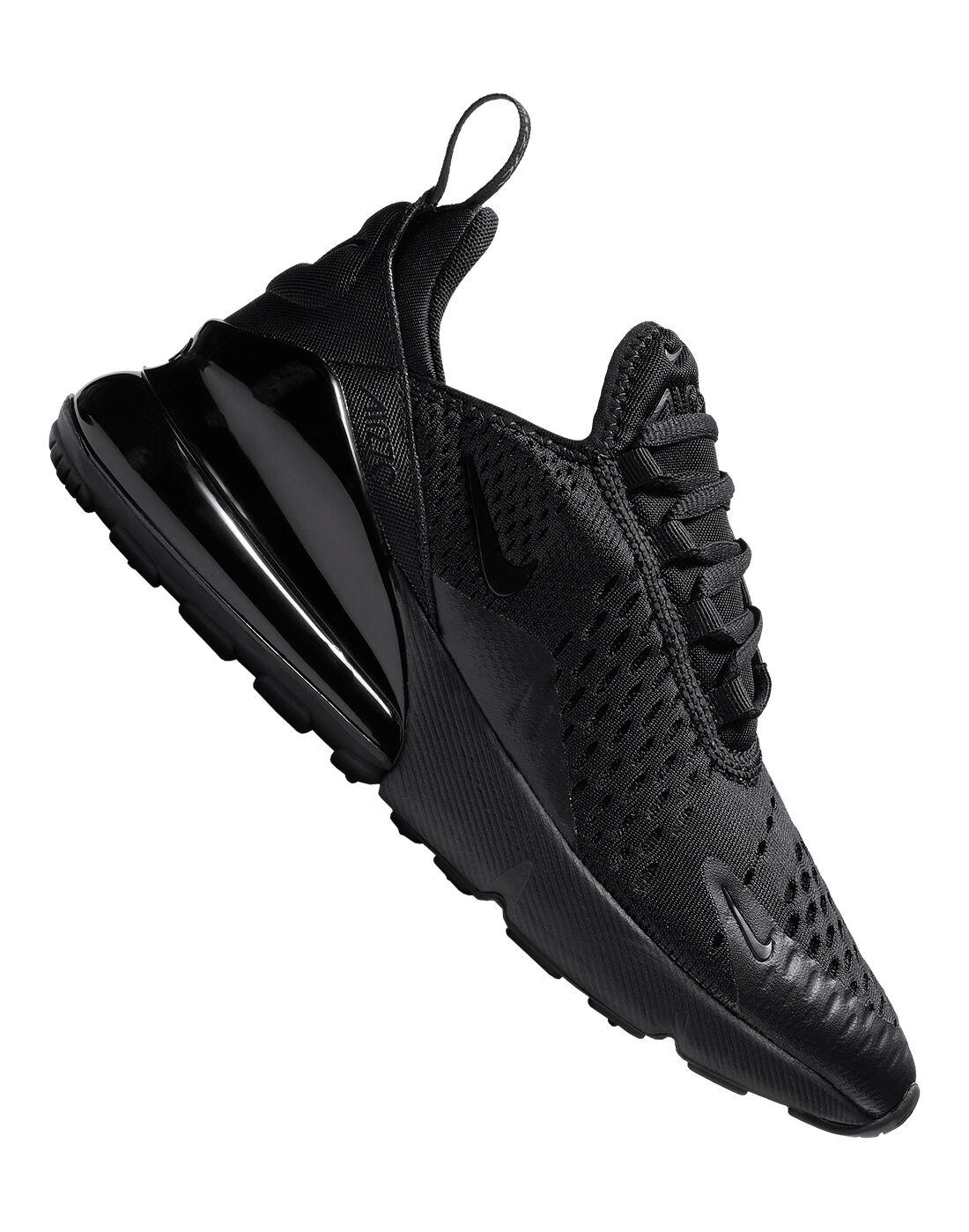Boy's Triple Black Nike Air Max 270