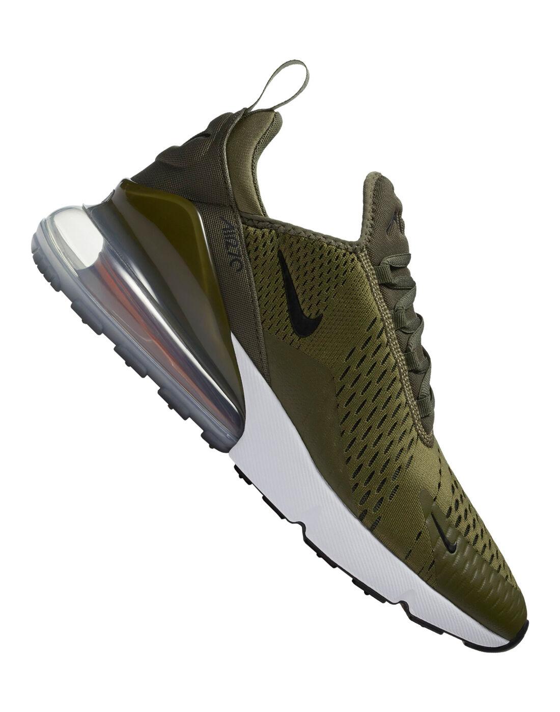Men's Nike Air Max 270 Trainers   Green